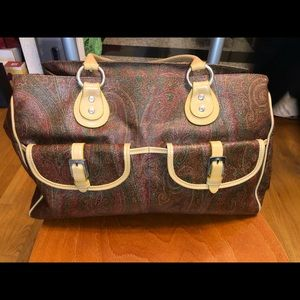 ETRO pattern leather bag